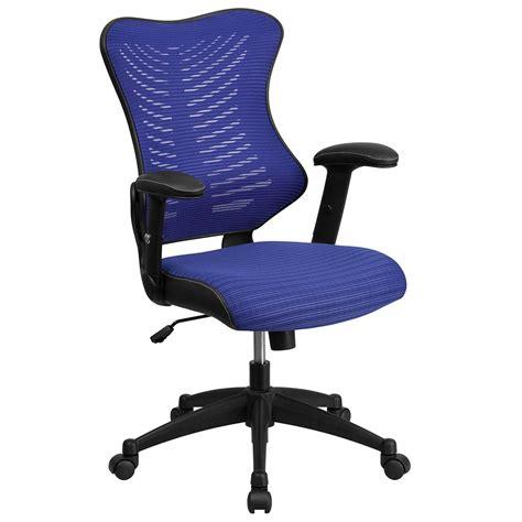 mesh swivel chair high back blue designer mesh executive swivel office chair
