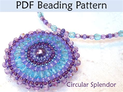 beading patterns pdf circular splendor pdf beading pattern by