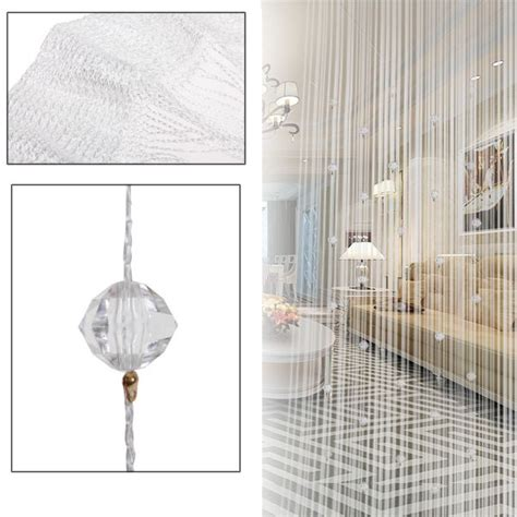 beaded room divider screen window curtain door room divider drop beaded string fringe