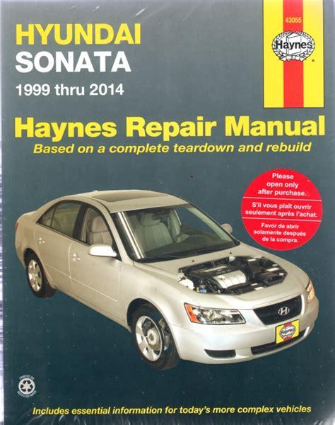 hyundai sonata 1999 2014 haynes service repair manual sagin workshop car manuals repair books