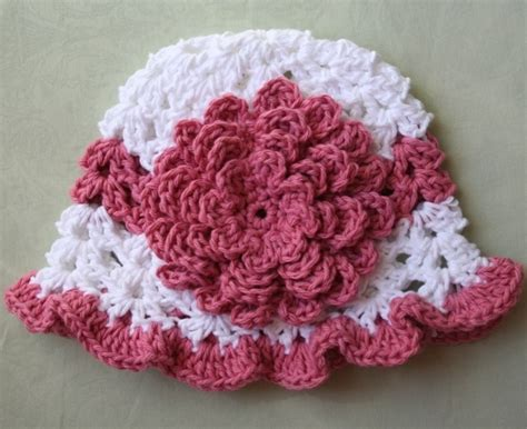 knit flower pattern for baby hat crochet flower patterns crochet baby hats with flowers
