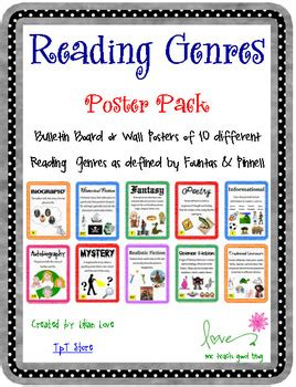 picture book genres reading genre poster set with definitions by me teach