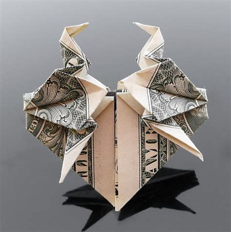 origami crane dollar bill 35 beautiful dollar origami by craig sonnenfeld