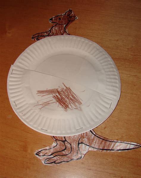 kangaroo paper craft kangaroo crafts
