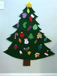 how to make a tree with ornaments a felt tree thriftyfun