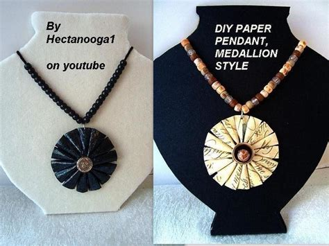make paper jewelry paper jewelry medallion pendant 183 how to make a