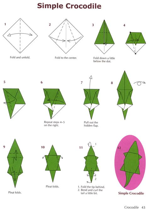 crocodile origami welcome to dover publications
