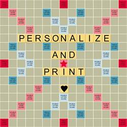 how to make a scrabble board personalize print a scrabble styled board for