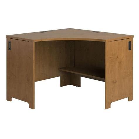 bush envoy wood corner desk in cherry pr76320