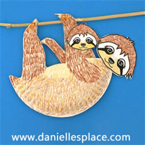 south american crafts for sloth crafts for