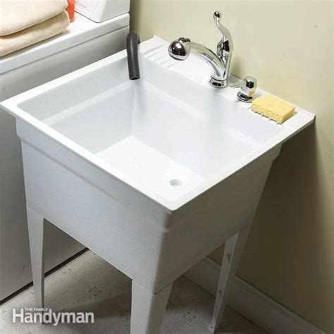 Cost To Replace Kitchen Faucet upgrade your laundry sink the family handyman