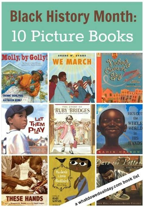picture book month picture books for black history month