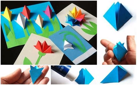 how to make paper roses for cards how to make paper flowers card for easy craft ideas