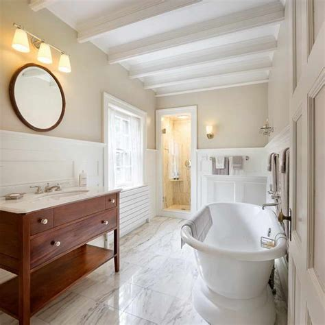 Wainscoting Bathroom Ideas by Bloombety Wainscoting In Bathroom Ideas With Marble