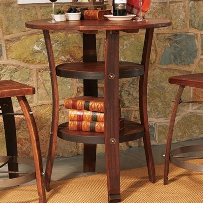wine dining table wine barrel dining table