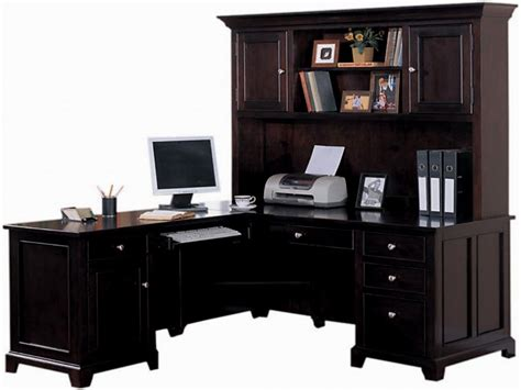 l shaped office desk with hutch ideas for home decor