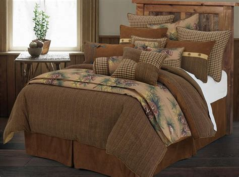 rustic bedding sets crestwood pine cone rustic comforter set