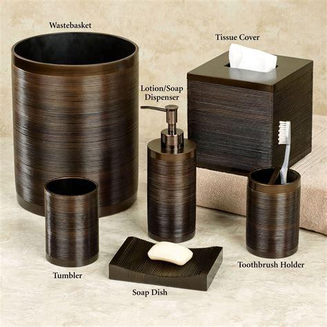 bathroom bronze accessories ridley ombre bronze bath accessories by veratex