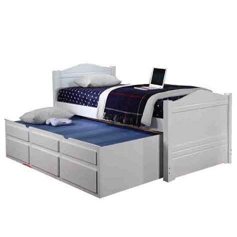 white captains bed paddington white single captains bed