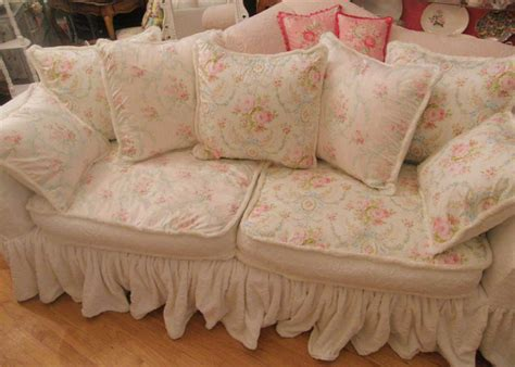floral sofa slipcovers white shabby chic sofa slipcovers with pink floral design