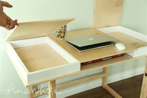 diy build a desk white desktop with storage compartments build your