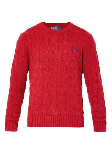 cable knit ralph sweater polo ralph cable knit crewneck sweater in for
