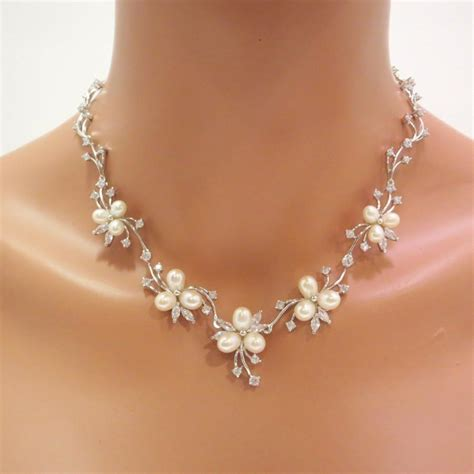 how to make wedding jewelry pearl bridal necklace set pearl bridal earrings wedding