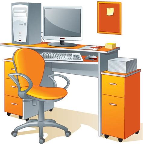 office desk clipart 19 vector desk and chairs images free vector clip
