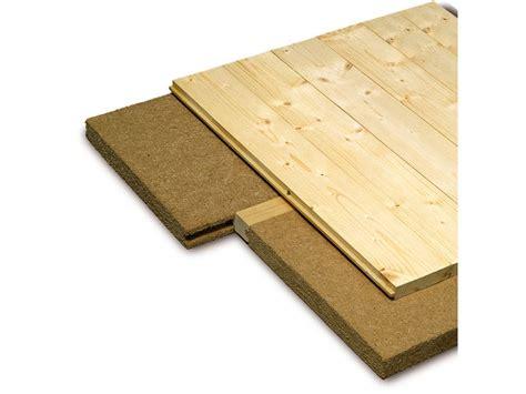 panneau isolant pour plancher en lames de bois massif pavatherm profil contact pavatex