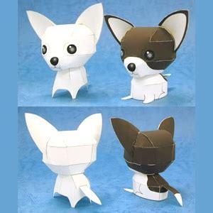 paper crafts pdf papercraft chihuahuas