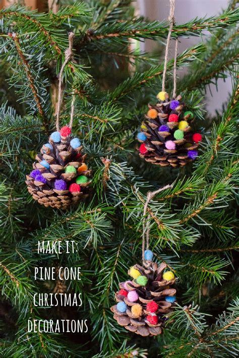 pine cone crafts for nature decorations pom pom pine cones