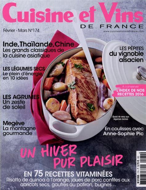 abonnement cuisine et vins de abonnement magazine par toutabo