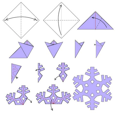 snowflakes origami snowflake of animated origami how
