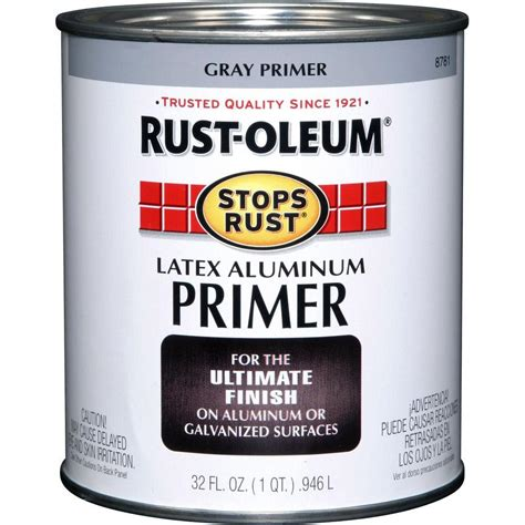 home depot paint rust rust oleum stops rust 32 oz aluminum flat rust preventive