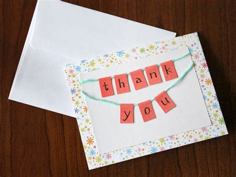how to make a thank you card how to make a bunting thank you card loulou downtown