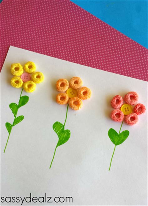 craft loops projects simple fruit loops flower craft for crafty morning