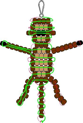 the bead monkey jungle monkey pony bead pattern