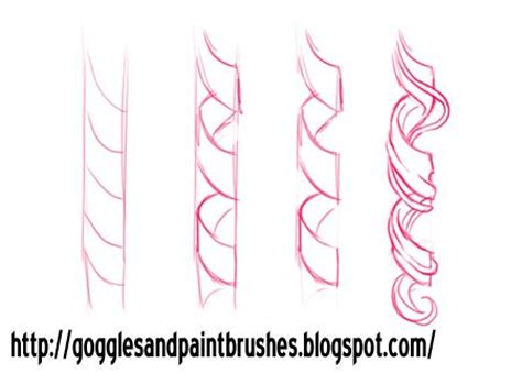 how to draw curly hair drawing hair curls desing and tutorials