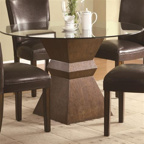 glass top pedestal dining room tables beautiful pedestal table base for glass top homesfeed