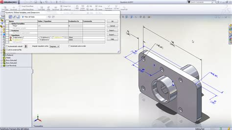 in solidworks 2012 enhanced equation editing