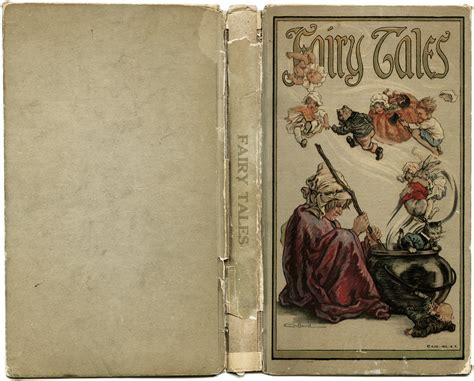 vintage picture books tale book covers aged paper graphics