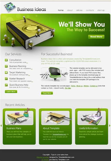 free site free business website template the right choice for your