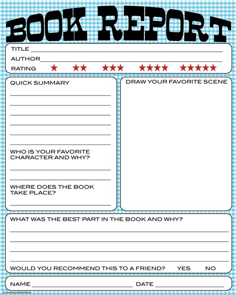 picture book report bnute productions free printable book report worksheet