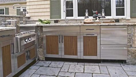 outdoor kitchen cabinets stainless steel outdoor kitchen cabinets landscaping network