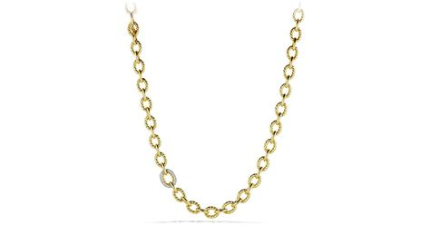 large link chain for jewelry david yurman oval large link chain necklace with diamonds