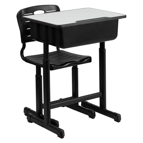 students desks and chairs adjustable height student desk and chair with black