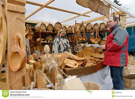 woodworking fair kaziuko fair on mar 8 2014 in vilnius editorial image