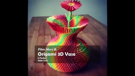 origami vase 3d 3d origami colorful vase