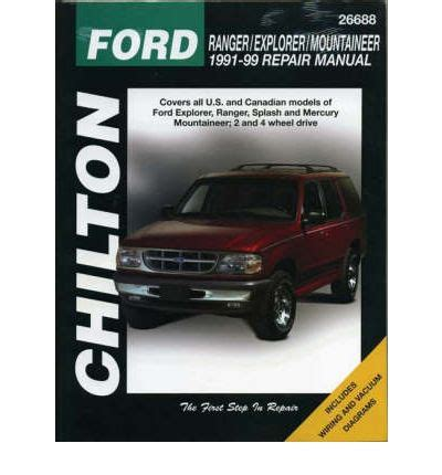 motor auto repair manual 1991 ford e series spare parts catalogs ford explorer 1991 99 sagin workshop car manuals repair books information australia integracar