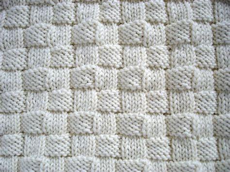 basket weave knit pattern basketweave initial baby blanket knitting pattern by